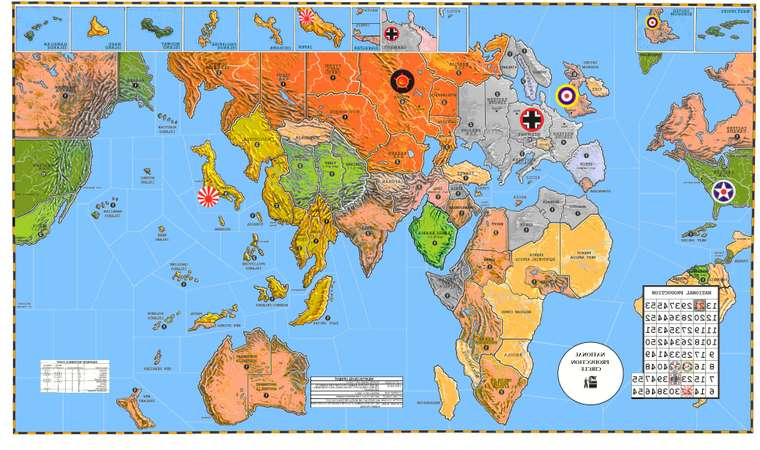 Flipped World Map.1942 3rd Edition Map Thoughts Axis Allies Org Forums