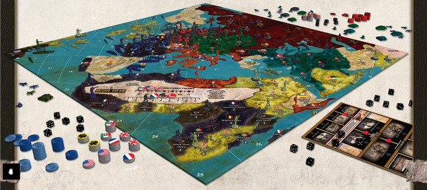 Axis & Allies 1914 Set Up