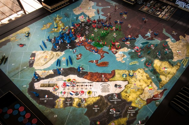Axis & Allies 1914 Game in Progress