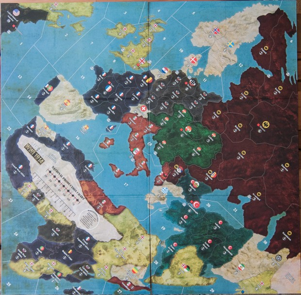 Axis & Allies 1914 Map