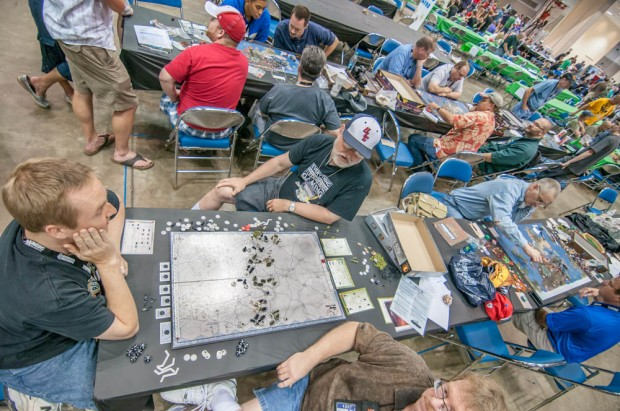 Axis & Allies Game Play Area with a Casual Game of Battle of the