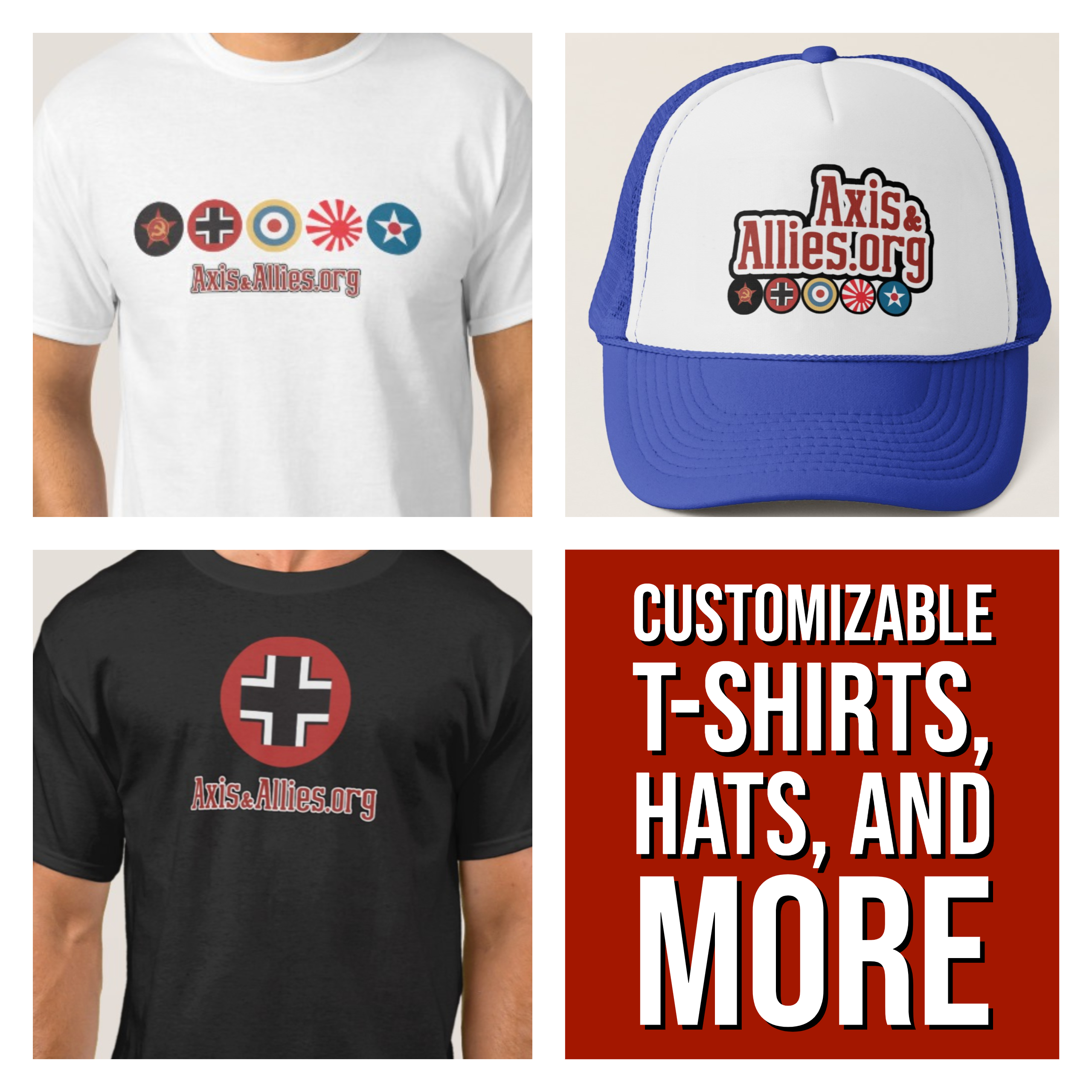 Custom A&A.org T-Shirts, Hats, and More