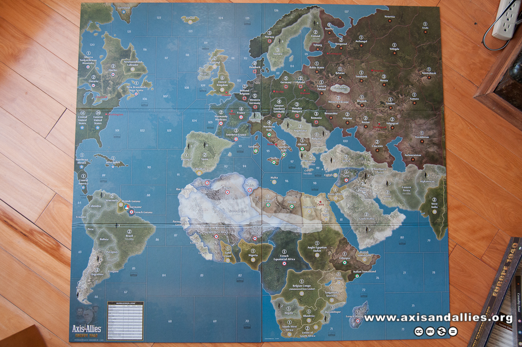 Image: Axis & Allies Pacific 1940 full map | Axis & Allies .org