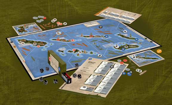 Axis & Allies Guadalcanal Game Setup 2366