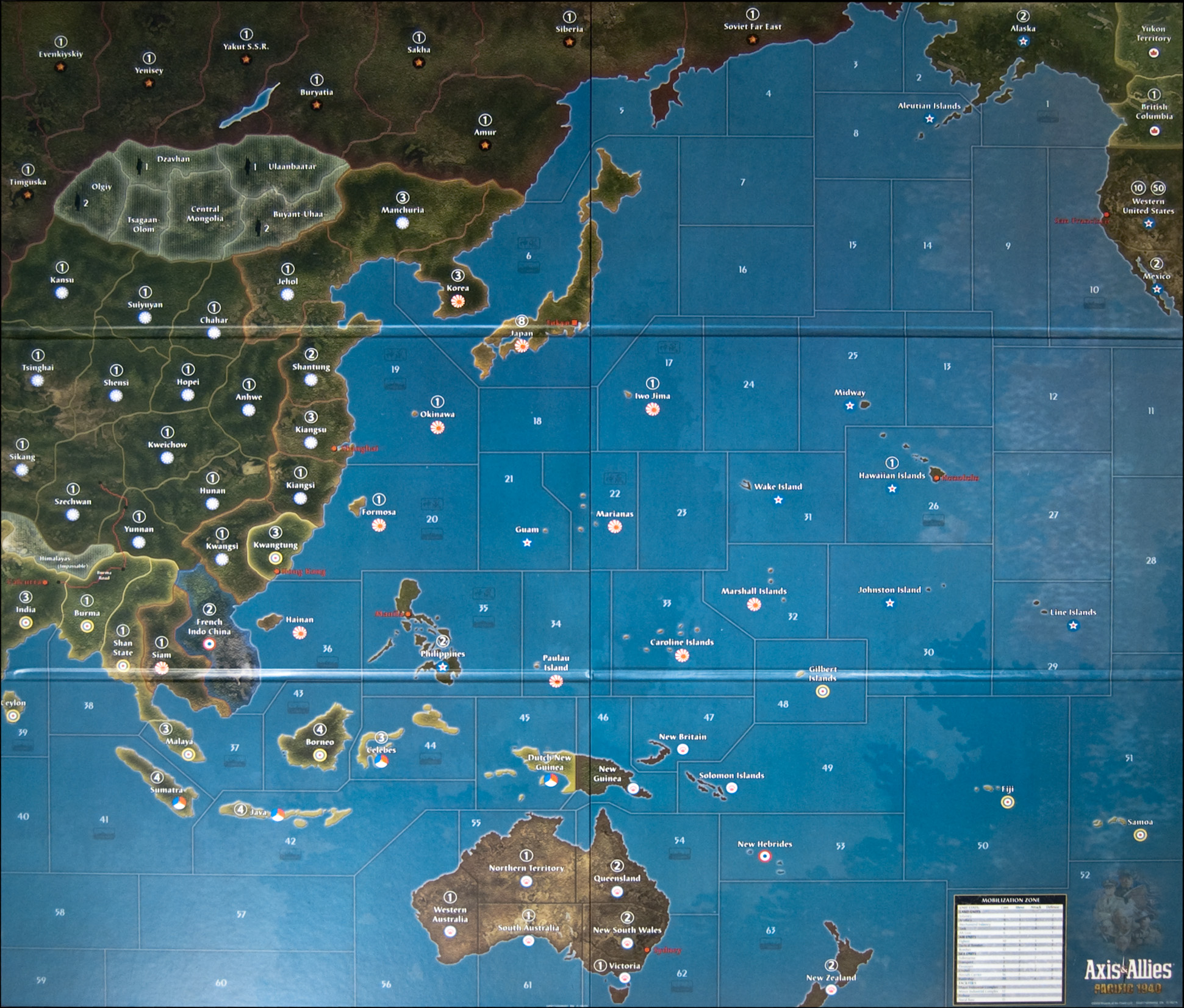 Axis And Allies Pacific Map Image: Axis & Allies Pacific 1940 Map | Axis & Allies .org
